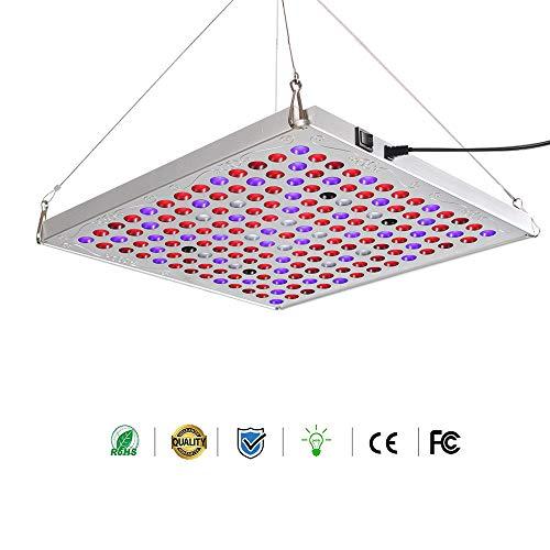 LED Pflanzenlampe, 75W Panel Pflanzenlicht Vollspektrum Pflanzenleuchte LED Grow Light Zimmerpflanzen mit Schalter Hängeleuchte für Innen Samen Knospe Pflanze Gemüse und Blume Wachstumslampe