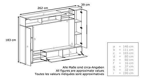 Wohnwand anthrazit – Avola Anthrazit – 262 cm - 5
