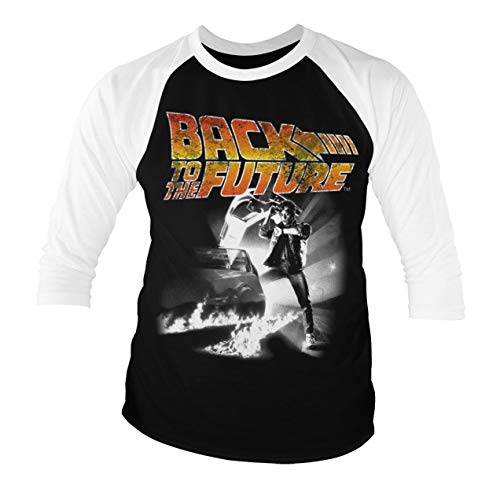 Officially Licensed Back to The Future Poster Baseball 3/4 Sleeve T-Shirt