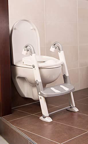 Rotho Babydesign KidsKit 3-in-1 Toilettentrainer, Ab 18-36 Monate, 41,5 x 25 x 67 cm, Grau/Weiß, 600060240