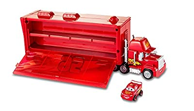 Mattel Disney Cars FLG70 Disney Cars Mack Transporter (Inkl. 1 Mini Racer Lightning Mcqueen), Mehrfarbig von Mattel