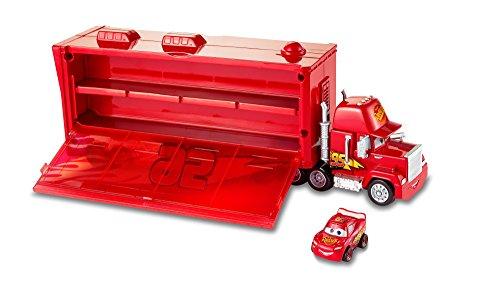 Disney - Cars - Mack Trasportatore Racer Incluso - può Contenere Fino a 16 Mini Racers, FLG70