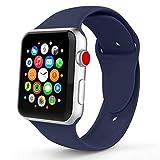 Tervoka Ersatz Armbänder für Apple Watch Armband 42mm(44mm Series 4), Weiche Silikon Ersatz...