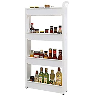 AJ 4-Tier Slim Storage Cart Laundry Supply Storage Cart, AJ1109+4