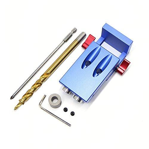 Mini Kreg Stil Tasche schräg Loch Jig Kit + Schritt Bohren Bit Holz Arbeit Werkzeug-Set -