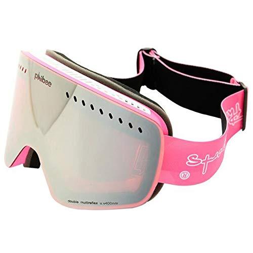 L.J.JZDY Skibrille Skibrille Kind Klettern Spiegel Windschutz Phibee Große Kugelförmig Gefüllt Anti-Nebel Brille (Color : 2, Size : 190 * 75mm) -
