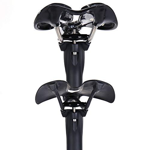 ELITA ONE Bicicleta Ciclismo tija de sill/ín Carbono 27.2//30.8//31.6mm MTB//Bicicleta de Carretera Tija de sill/ín Ultraligera