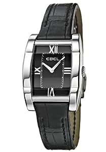 Ebel - 9656J21-5435136 - Montre Femme - Quartz Analogique - Cadran Noir - Bracelet Cuir Noir