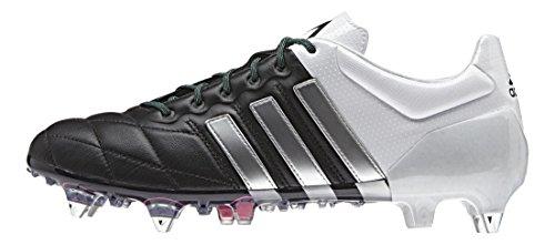 adidas Herren Ace 15.1 Sg Leather Fußballschuhe Mehrfarbig (Core Black/Matte Silver/Ftwr White)