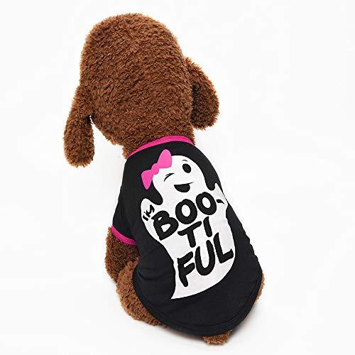 Haustier Kostüm Geist - Haustier-Hundekleidungs-Hemd-Geist-Malerei-polarer Welpen-Mantel-Haustier-Welpen-Kleidungs-Haustier-Produkt-Hundehaustier-Kleidung Halloweens neues,Schwarz,S