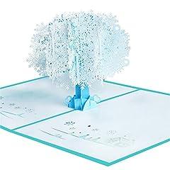Idea Regalo - Xinlie 3D Pop Up Biglietti augurali 3D Fiocco di neve Pop Up Biglietti d'auguri Fiocco di neve Biglietto di auguri Fiocco di neve Biglietto d'auguri per l'amante di San Valentino Biglietto natalizio*1