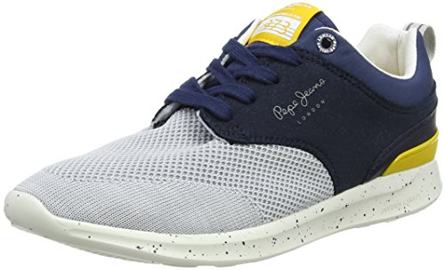 Pepe Jeans London Jungen Jayden Knit Junior Sneaker, Blau (Naval Blue), 38 EU