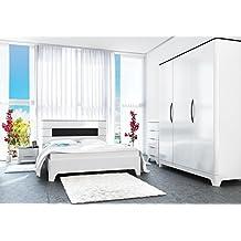 suchergebnis auf amazon.de für: schlafzimmer komplett weiß hochglanz - Schlafzimmer Komplett Schwarz