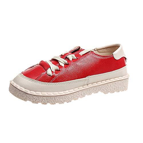 Bazhahei donna scarpa,scarpe casual piatto corto lace-up stivaletti,invernali/autunno tacchi alti scarpe singole stivaletti a tubo centrale casual con tacco basso stivale,scarpe moda da donna