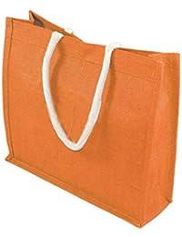 NISUN Multipurpose Reusable Jute Lunch Bag With Handle (15x5x13.5 Inch) - Multicolor
