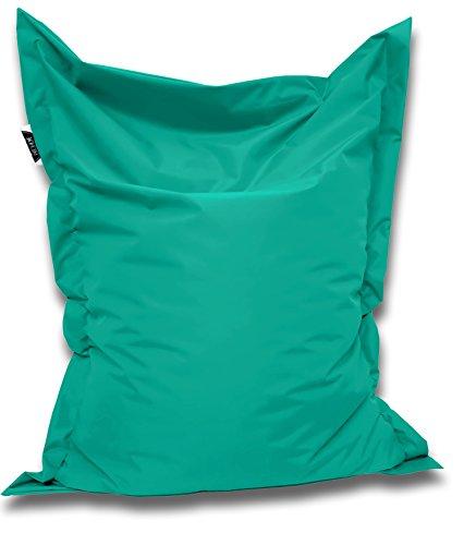 Patchhome Sitzsack und Sitzkissen Eckig - Türkis - 145x100cm in 25 Farben und 7 versch. Größen