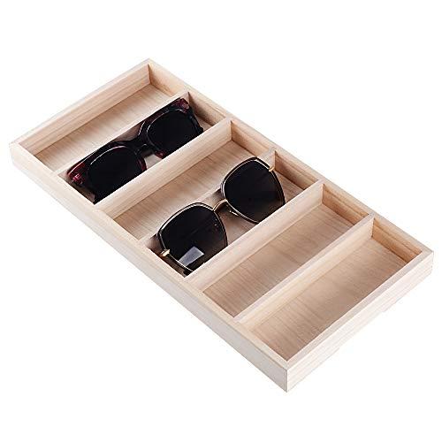 BUONDAC Brillendisplay für 6 Brillen Sonnenbrillen Organizer Brillenständer Display Brillenbox für mehrere Brillenorganizer Brillenkoffer Aufbewahrungsbox Brillenaufbewahrung Aufbewahrung Koffer
