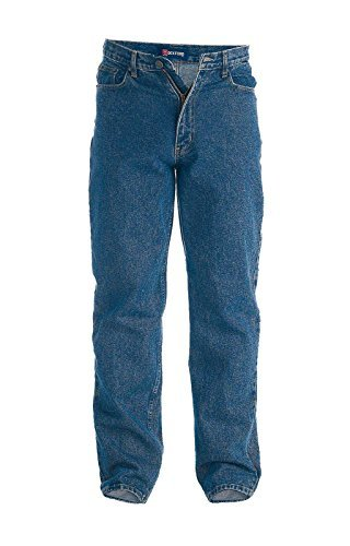 Herren Rockford Mid-Rise Arbeitskleidung bequeme Passform Qualität Jeans - Stonewash blau - Stonewash, 50W/30L (Stonewash-bequeme Passform-jeans)