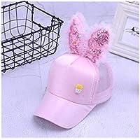 Young shinee Cappello per Bambini Cuffie con Visiera in Paillettes per  Bambini Stile Orecchie di Coniglio 77c40ff4e2de
