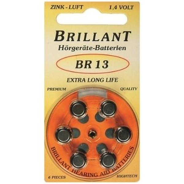 60 X Brillant Br 13 Orange Hörgerätebatterien Elektronik