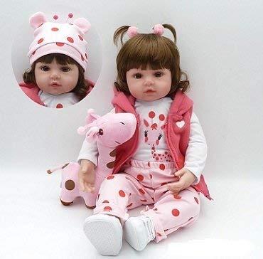 ZIYIUI Reborn Baby Doll 18 Pouces 45cm Réincarné bébé Poupée Doux Simulation Silicone Vinyle Bouche Qui Semble Vivant Garçon Fille Jouet Vif réaliste pour Âge 3+ Boy Girl Jouet
