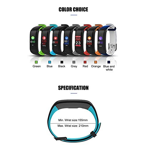 41nvQq7mRqL. SS500  - ZNSB P1 Plus Color OLED Screen Men's Woman Smart Bracelet Blood Pressure/Heart Rate Monitor Pedometers for Ios Android