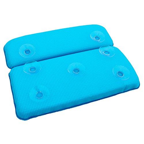 Waterproof sponge bathtub pillow tub cushion pillow Tub Bath pillows cup anti-slip tasteless, sky blue big sucker blue sky