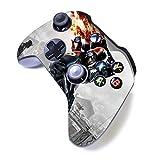 Xbox One S Manette sans Fil Pro Console Manette Xbox One S Dents Bleues avec Grip Doux et Skin Version personnalisée Exclusive (Xbox-‿Mask Man)