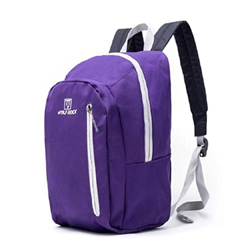 LF&F Backpack Camping outdoor Zaini Borse Borsa portatile ultra-leggera portatile alpinismo campeggio zaino in bicicletta zaino impermeabile resistente all'usura maschile e femminile blue 15L purple