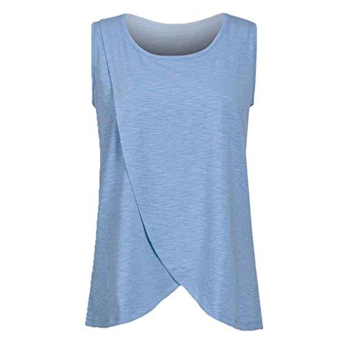 Arichtop Femmes Élastique Réservoir Débardeur D'été Allaitement Gilet Vêtements Enceinte Allaitement Maternité Doux T-Shirts