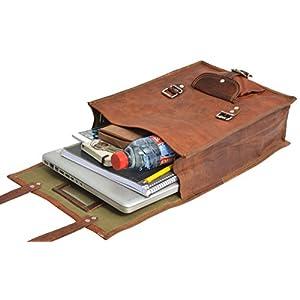 41nvSeHmSFL. SS300  - Gusti Cuero nature Joe Mochila Vintage Formato A4 Universidad Oficina Trabajo Carpetas Libros Portátil 15'' Retro Marrón…