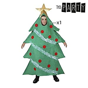 Atosa-96360 Atosa-96360-Disfraz Árbol niño Infantil-Talla Navidad, Color Verde, 7 a 9 años (96360