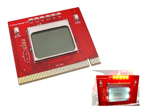 Kalea Informatique PCI-Prüfgerät für Hauptplatinen mit LCD-Display durch Fernsteuerung - PC-Schnittstelle des PCI-Desktop - Profi-Tool / Version 2012