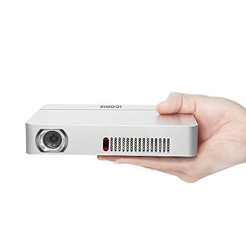 Vidéoprojecteur iCodis CB400, DLP 3000 Lumens, Vidéo 3D 1080P HD, Rapport De Contraste 10000: 1, Construit En Batterie 10000mAh, 30.000 Heures De Vie Animée, Projecteur Led Portable
