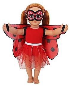 DREAMY DRESS-UPS 71210 - Juego de 4 Piezas para muñecas de 46 cm, diseño de Mariquitas