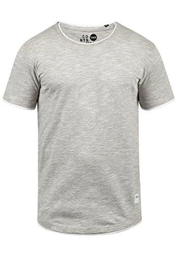 !Solid Rigos Herren T-Shirt Kurzarm Shirt Mit Rundhalsausschnitt Im Double-Layer-Look Aus 100% Baumwolle, Größe:XXL, Farbe:Monument (2545) -
