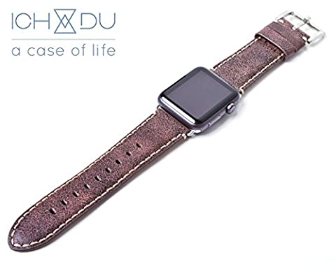 Apple Watch Armband 42mm aus Echtleder (Series 1 / Series