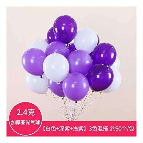 EU8 90pcs 10-Zoll verdicken Latex Weihnachten Runde Ballon-Sets für Home Decor (Color : F)