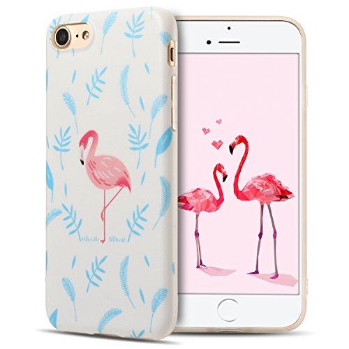 Cover iPhone 7 Case iPhone 8 Custodia Spiritsun Moda Soft TPU Case Christmas Kawaii Cover High Quality Scintillante Luminoso Case Elegante Souple Flessibile Liscio Copertura Perfetta Protezione Shell  Flamingo 1