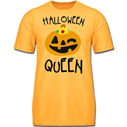 Anlässe Kinder - Halloween Queen Kostüm - 140 (9-11 Jahre) - Gelb - F130K - Jungen Kinder T-Shirt (Gruppe Halloween Kostüme 2019)