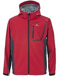 Trespass Strathy - Chaqueta Softshell Strathy para hombre, color rojo, talla Large