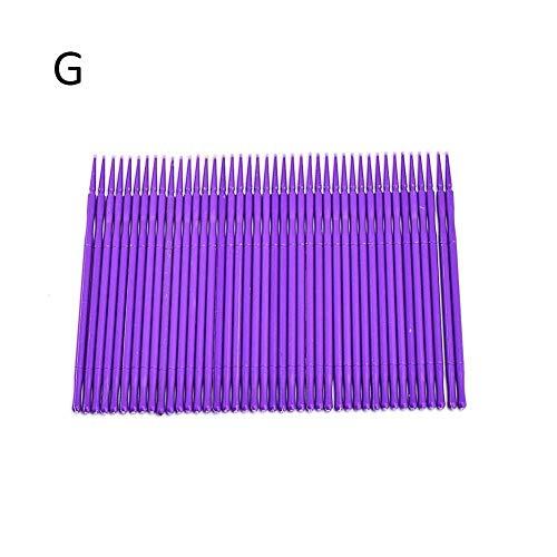 100 pcs pinceau applicateur micro applicateurs jetables pinceaux micro mascara pour extension de cils size S (violet-1)