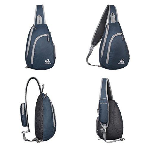 5775ec2fc8 Waterfly Zaino Monospalla Uomo e Donna, Monospalla Multiuso Zaino Tracolla  Sling Bag per Escursionismo, Trekking, Outdoor (Blu zaffiro)