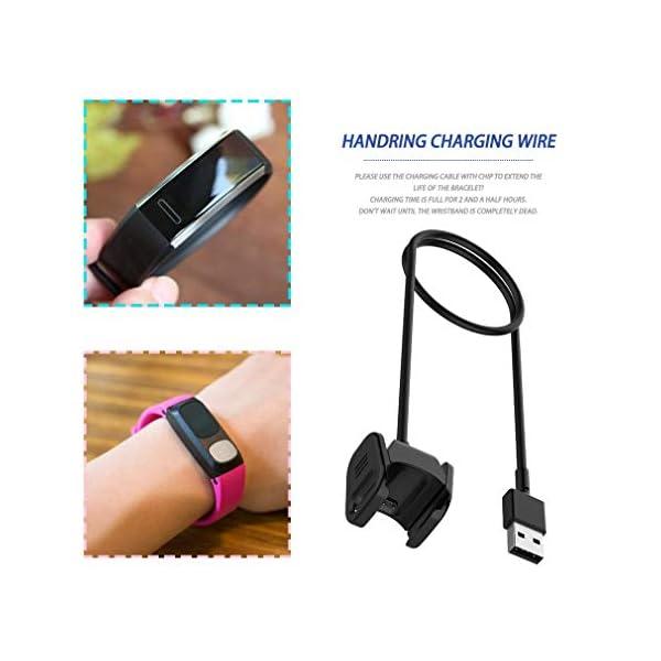 Cable cargador para Fitbit Charge 3 Cable de carga USB Cable Clip Dock para Fitbit Charge3 Fitness Tracker Pulsera para… 6