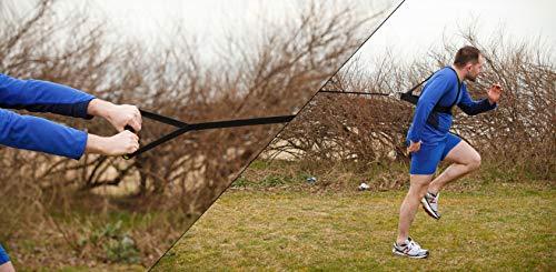 FH - Imbracatura per esercizi di velocità e resistenza, attrezzatura da allenamento rugby | resistenza di marcia | Crossfit