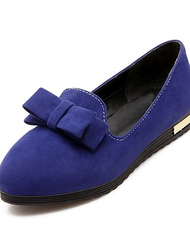 ZQ gyht Scarpe Donna - Mocassini - Tempo libero / Casual - Punta arrotondata - Piatto - Finta pelle - Nero / Blu / Viola / Rosso , purple-us8 / eu39 / uk6 / cn39 , purple-us8 / eu39 / uk6 / cn39 blue-us8 / eu39 / uk6 / cn39