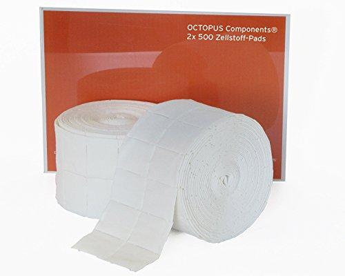 Zellstofftupfer 4cm x 5cm , 2x 500 Stück auf Rolle von Sandter - Pur-Zellin Tupfer stauben und fasern nicht für Druckkopfreiniger (T00300)
