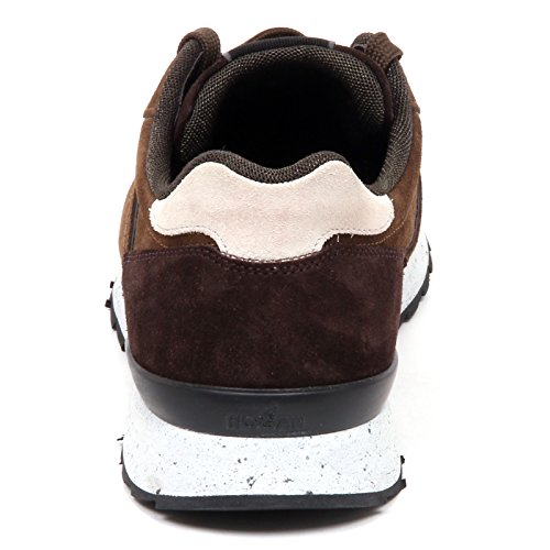 Hogan Uomo Brown Marrone Man Shoe Sneaker R261 E0620 qZ1rqHB ... 351988bca30