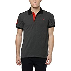 American Crew Men's Half Sleeve Charcoal Melange Solid T-Shirt With No.3 Applique - XL (AC284-XL)