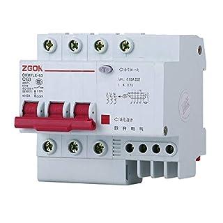 OIASD Dreiphasiger vieradriger Leistungsschalter mit Luftstromschalter 3P + N, 20A
